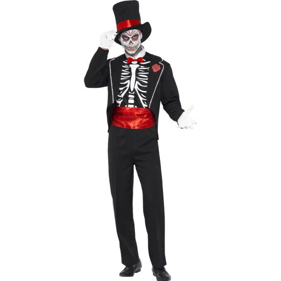 Verkleedkleding Day of the Dead voor heren