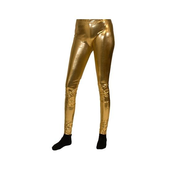 Verkleedkleding legging goud dames