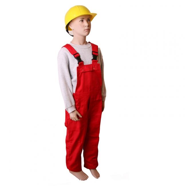 Verstelbare tuinbroek voor kids rood