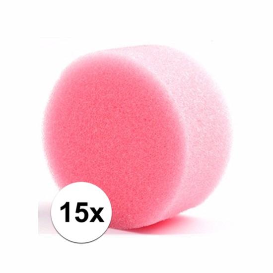 Vijftien ronde grimas schmink sponsjes