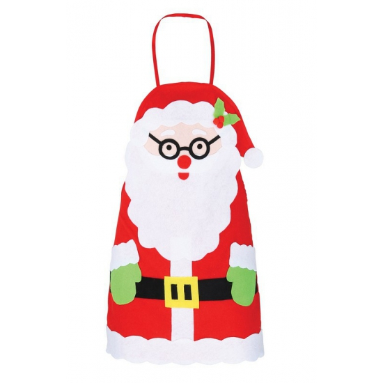 Vilten kerstman schort voor kinderen