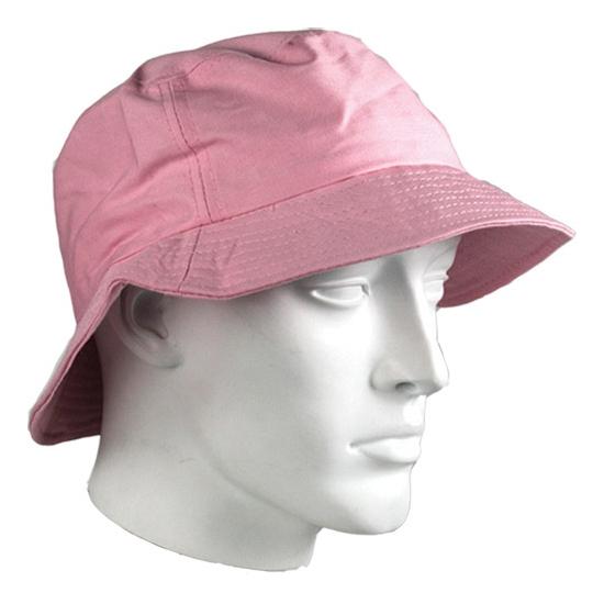 Vissershoedjes roze katoen