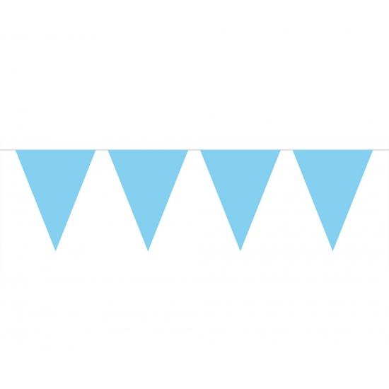 Vlaggenlijn effen baby blauw