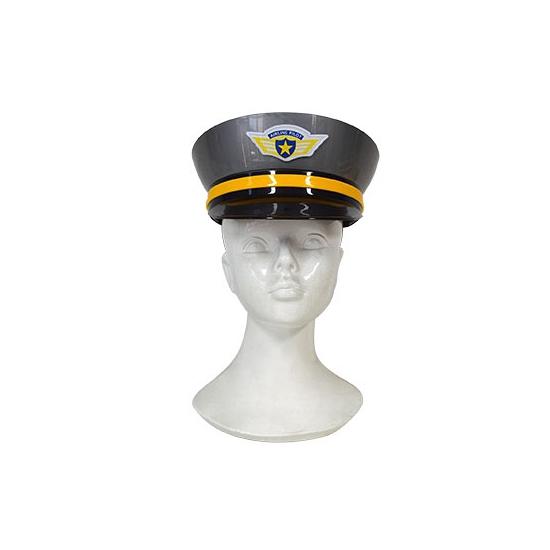 Volwassenen politiepet grijs plastic