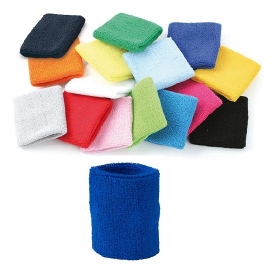 Voordelig zweetbandje in blauwe kleur