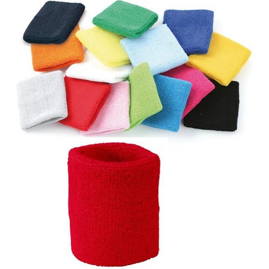 Voordelig zweetbandje in rode kleur