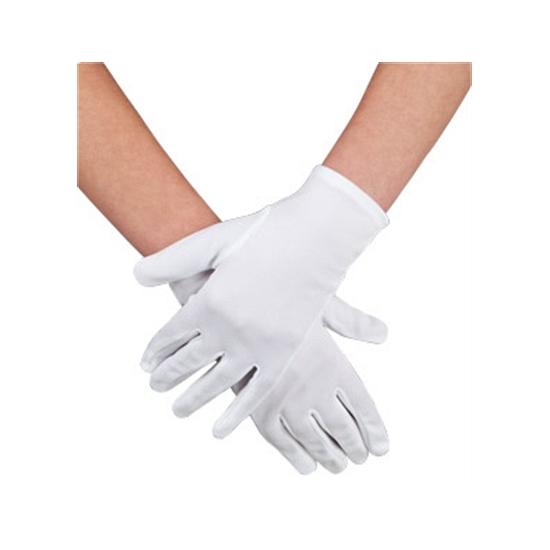 Voordelige witte handschoenen kort