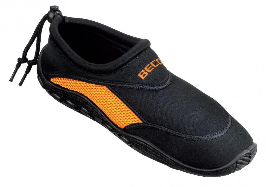 Waterschoenen voor heren zwart oranje