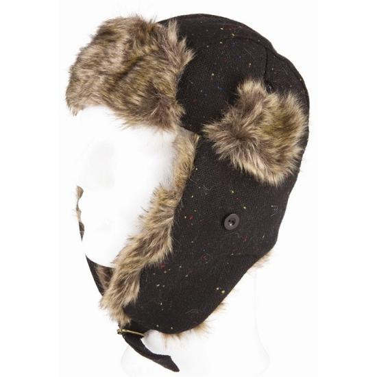 Winter bontmuts zwart