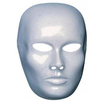 Wit blanco masker heren gezicht