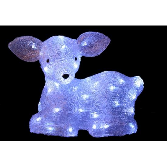 Wit hert met LED lampjes buitenverlichting