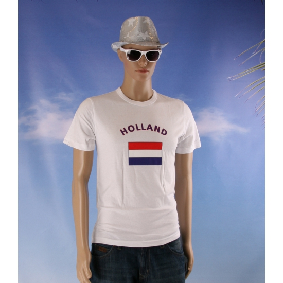 Wit shirt met Holland vlag