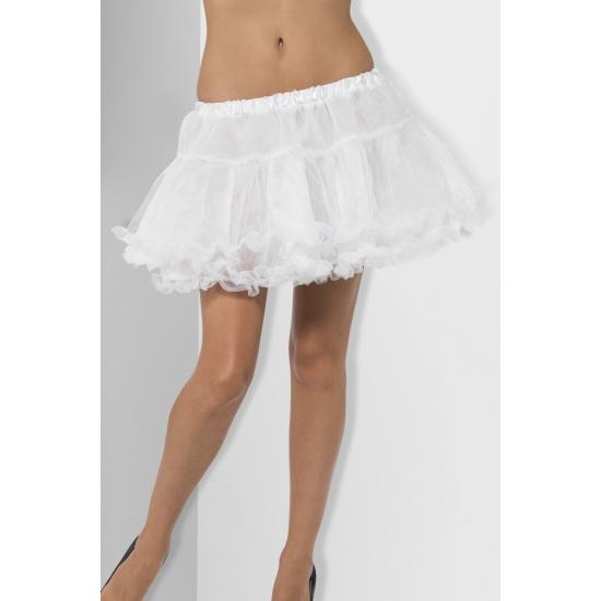 Witte dames petticoat met satijnen band