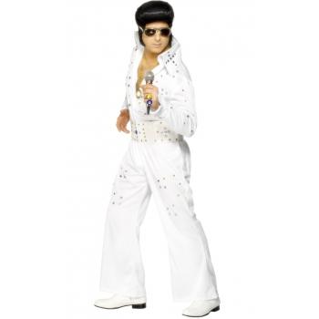 Witte Elvis jumpsuits met glimmers