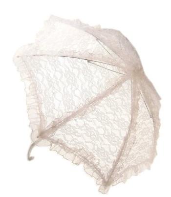 Witte kanten bydemeyer paraplu