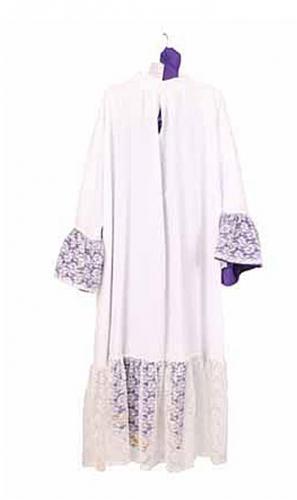 Witte Sinterklaas habijt met paarse broek