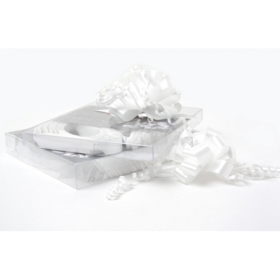 Witte strikken 1 2 cm breed