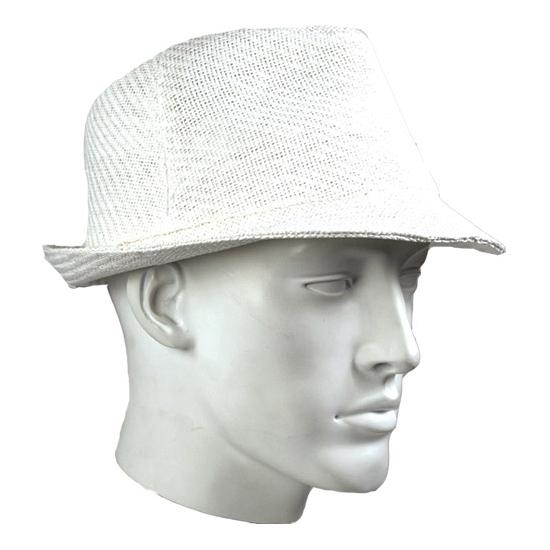 Witte trilby hoed voor volwassenen
