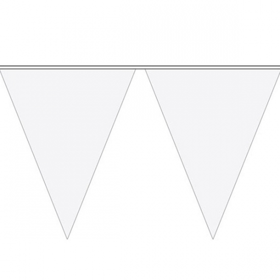 Witte vlaggetjeslijn 10 meter