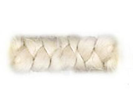 Witte wolcrepe om pruiken op te vullen