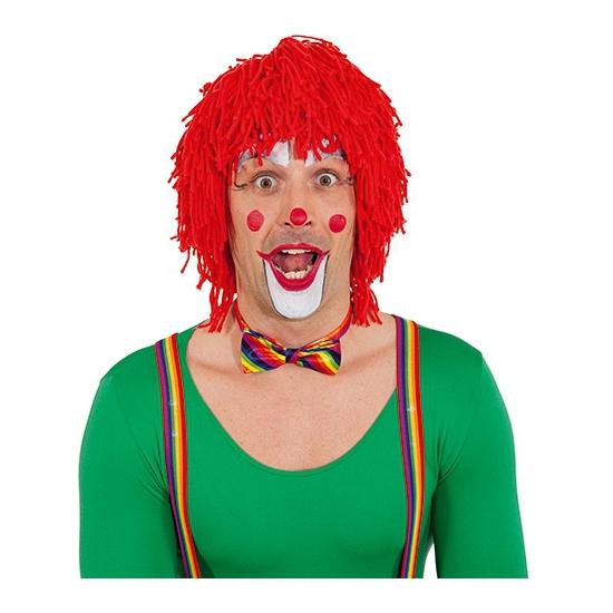 Wollen clown pruik rood