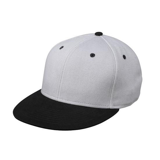 Zilver zwarte baseball cap voor volwassenen