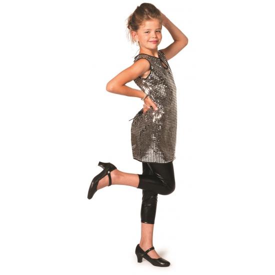 Zilveren disco jurkjes meisjes