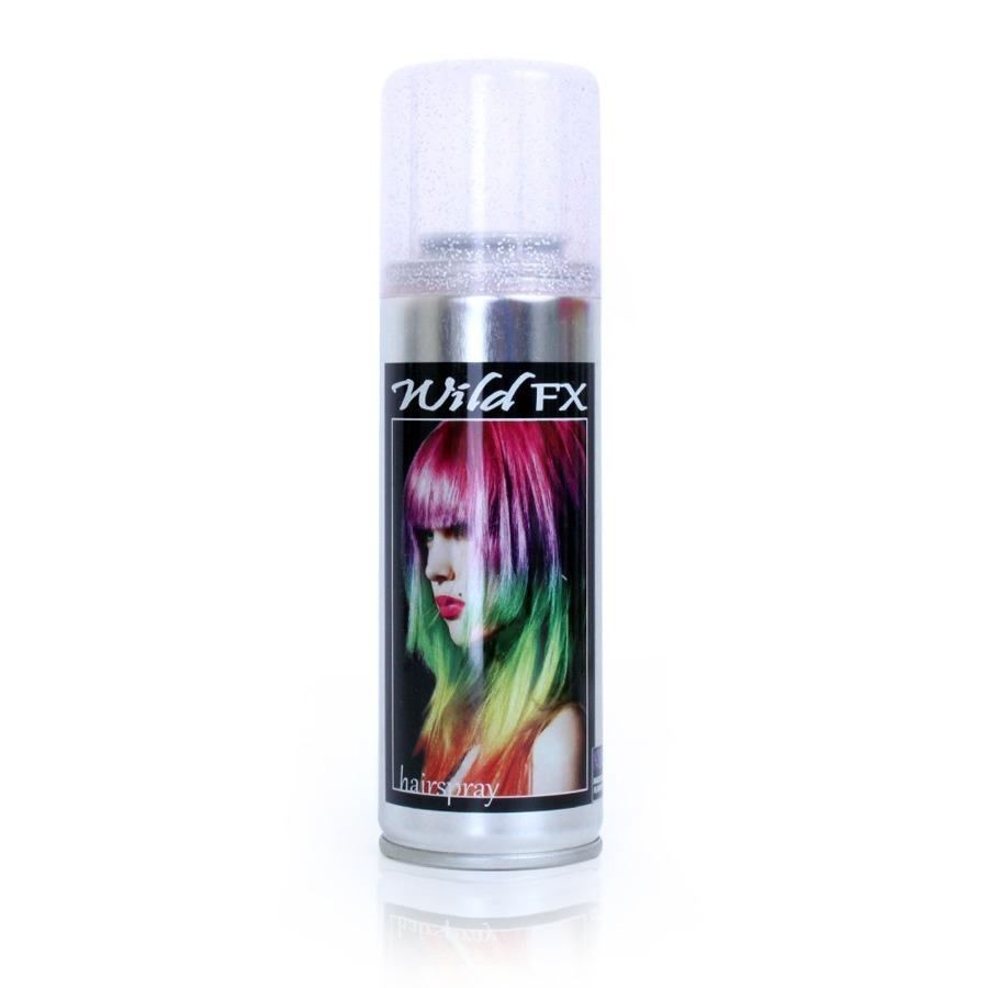 Zilveren glitter haarspray