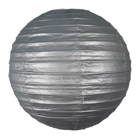 Zilveren lampionnen 25 cm