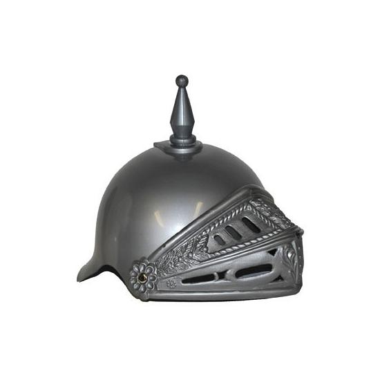 Zilveren ridder helm met vizier