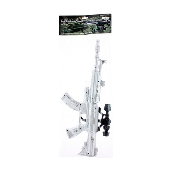 Zilveren space geweer