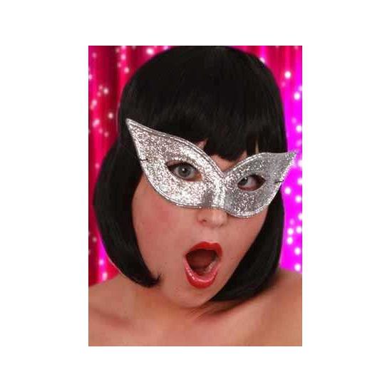 Zilverkleurig oogmasker voor een gemaskerd bal