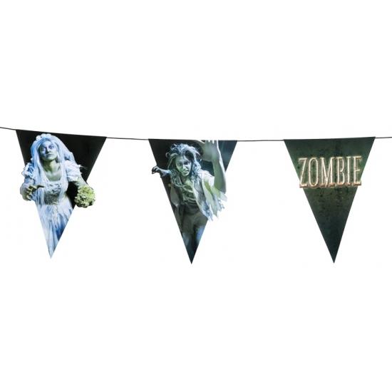 Zombie thema versiering vlaggetjes