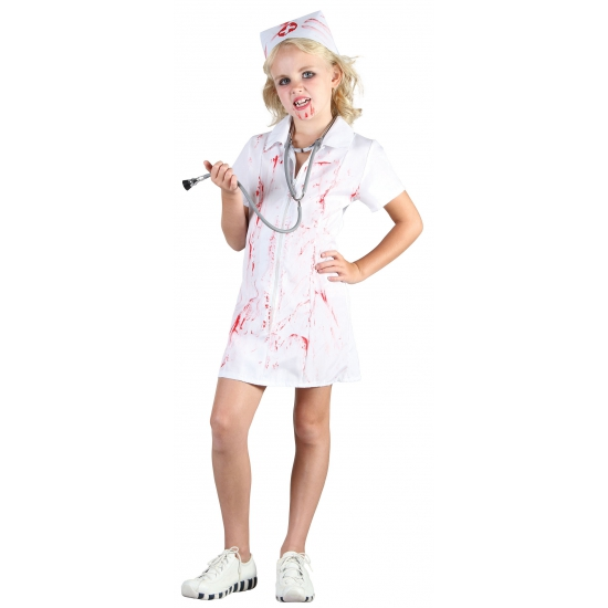 Zombie zustertje meisjes kostuum