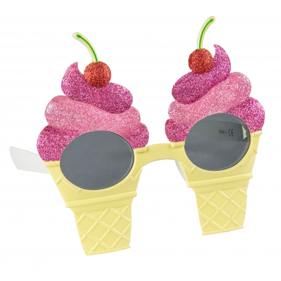 Zomer feest bril met ijsjes