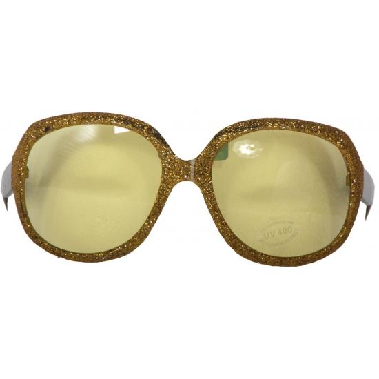 Zonnebril met gouden glitters