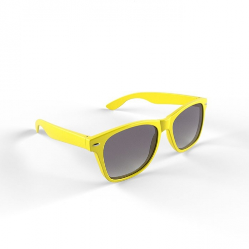 Zonnebril met kunststof geel montuur