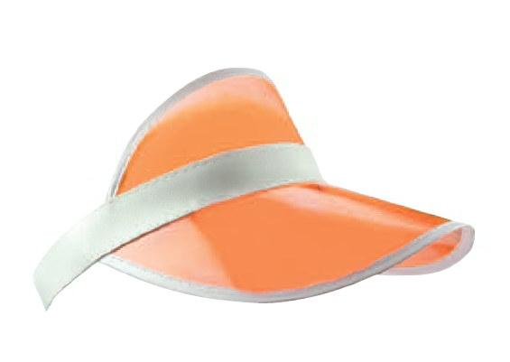 Zonneklep van plastic in de kleur oranje