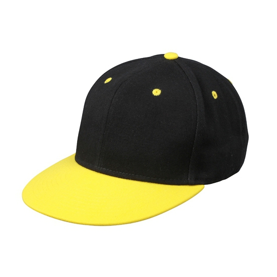 Zwart gele baseball cap voor volwassenen