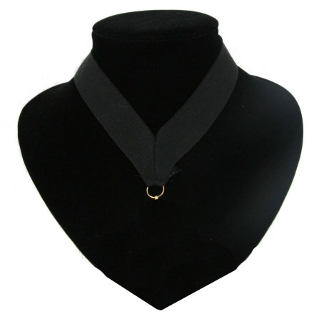 Zwart halslint