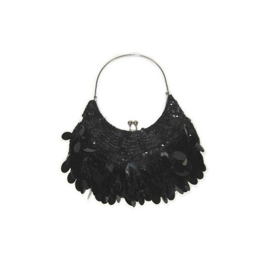 Zwart handtasje met pailletten