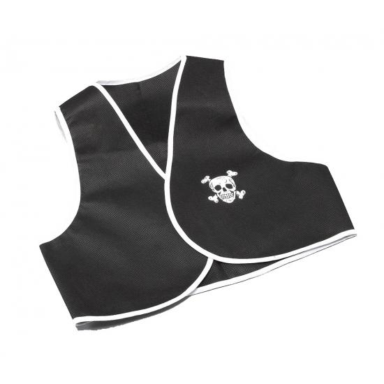 Zwart met wit piraten vestje