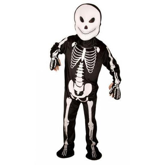 Zwart pak met witte skelet print