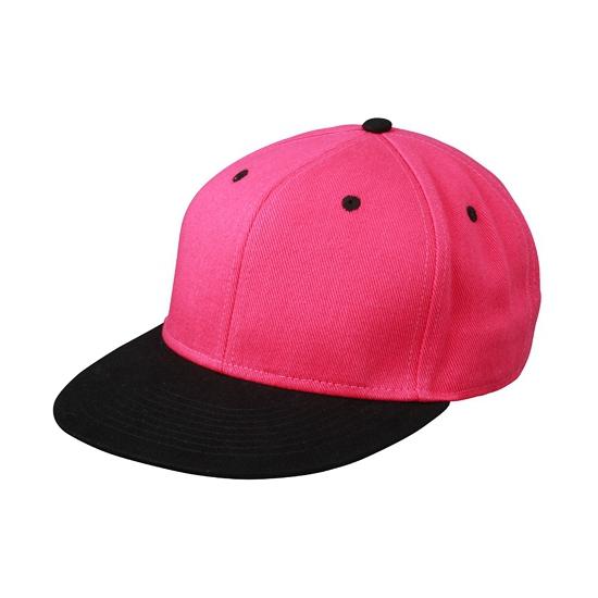 Zwart/roze baseball cap voor volwassenen