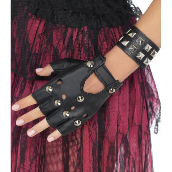 Zwarte bikers armbanden