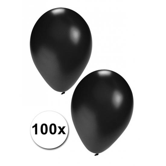 Zwarte decoratie ballonnen  100 st