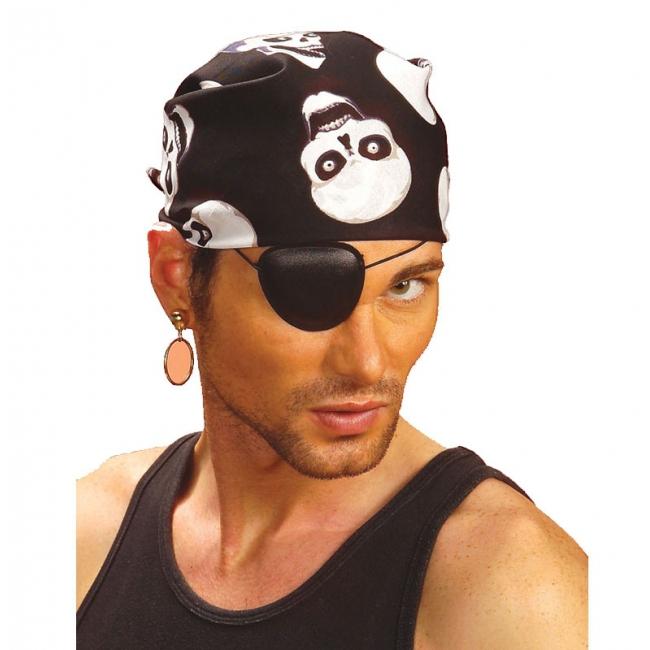 Zwarte doodskoppen piraat bandana