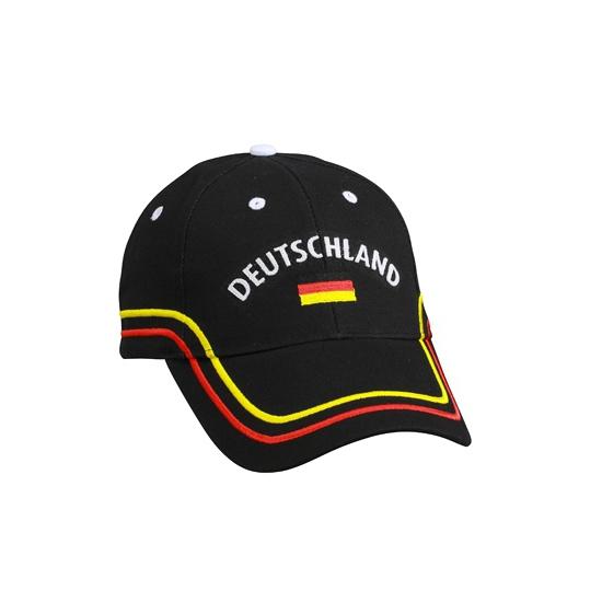 Zwarte Duitsland cap voor volwassenen