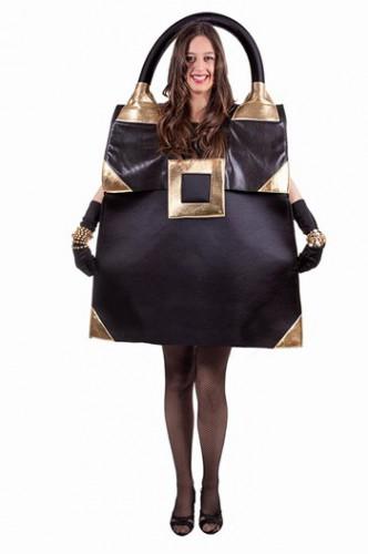 Zwarte glimmende handtas kostuum