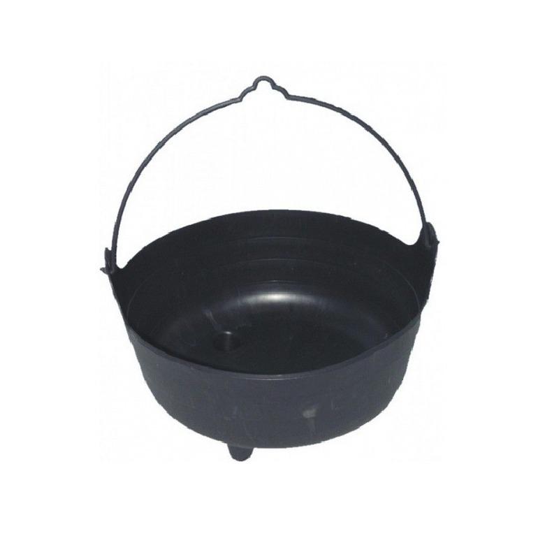 Zwarte heksenketel plastic 37 cm